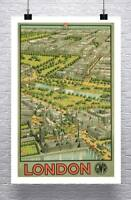 London 1936 Vintage European Travel Poster Canvas Giclee Print 24x36 in.