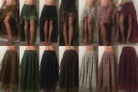 Asymmetric ,steampunk, hippy, boho, gypsy skirt fairtrade