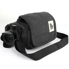 Waterproof Crossbody Canvas Camera Case Cover Shoulder Bag for Canon Nikon