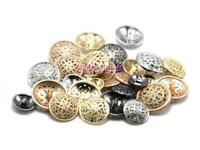 10Pcs Round Metal Gold Buttons Sewing Scrapbooking Craft Accessories 15mm-28mm