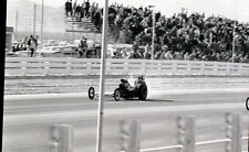 Front Engine Dragster on Straightaway - Vintage B&W 35mm Race Negative