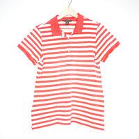 Tommy Bahama Pink Striped Womens Polo Shirt Size Medium