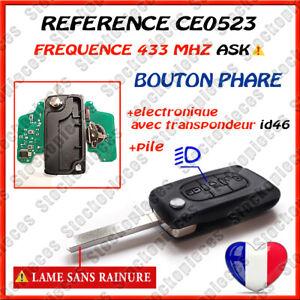 Clé Vierge Id46 CE0523 ASK Phare compatible C4 C5 C4 Picasso 308 407 607 Expert