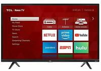 TCL 32S325 32 Inch 720p Roku Smart LED HDTV HDMI 60 Hz Alexa Google Assistant TV
