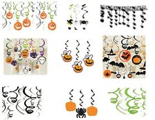 HALLOWEEN HANGING SWIRL PARTY DECORATIONS - GHOSTS | PUMPKINS | BATS | SPIDERS