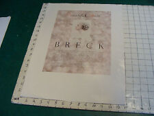 Original 1940's BRECK--POSTER--BEAUTIFUL HAIR #3;  very scarce item for stores