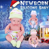 Newborn Baby Doll Toy Soft Vinyl Silicone Lifelike Newborn Kids Toddler Girl Hot