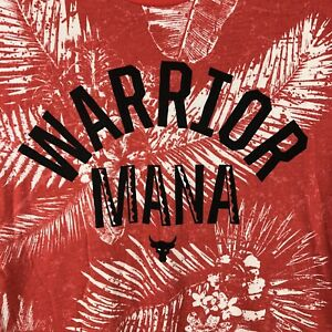 Project Rock Warrior Mana Under Armour Mens XL Hawaiian Red Tie Dye Shirt