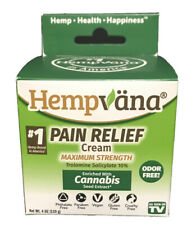 *4oz  LARGE* JAR HEMPVANA PAIN RELIEF CREAM HEMP OIL INFUSED EXP 2022 SHIPS FREE