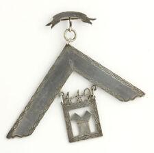 Past Master Mason Vintage Jewel - Coin Silver Masonic Masonry Engraved 66.2g