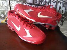 New Nike Shox Fuse 2 Red 375764-611 MLB Baseball Metal Cleats Shoes Men's 14
