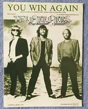 More details for the bee gees you win again u.k sheet music