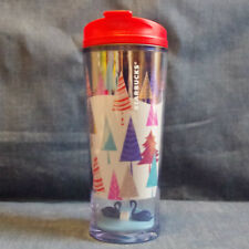F/S Starbucks Hong Kong plastic tumbler 10oz Holiday 2017 red tree from Japan
