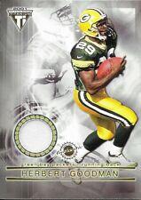 2001 Pacific Titanium Herbert Goodman / Demond Parker Dual Game Used Jersey #86