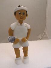 tennis player Hand made, edible figure, birthday cake topper, dad,grandad,son