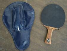 Stiga Hans Alser Table Tennis Bat Professional & Protective Bag Cover & 4 Balls