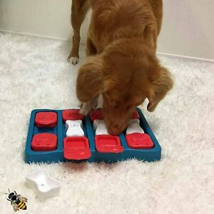 Dog Interactive Puzzle Treat Toy Fun Puppy Game Slide And Treat Brick