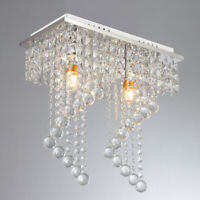Modern Crystal 4 Lights Chandelier Chrome Pendant Ceiling Lighting Fixture Lamp