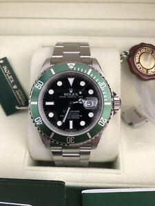 watch, rolex kermit, green bezel, 16610LV Submariner, used.