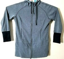 Women's Columbia Hooded Long Sleeve Full Zip Shirt Size Large Thin Gray
