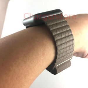 Original Genuine Apple Watch Leather Loop Band Magnetic Strap 42mm 44MM Large L