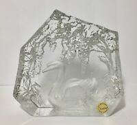 Vintage Goebel Large Swan Art Glass Sculpture Paperweight Made In West Germany