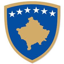 "KOSOVO Coat of Arms car bumper sticker decal 3"" x 5"""