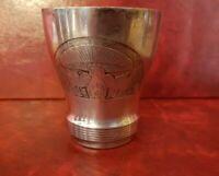 Tazza Bicchiere di Metallo Di Nascita O Battesimo Argento Metallo