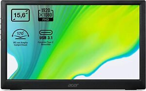 "Acer PM161Q Portable 15.6"" Full HD LED IPS Monitor, USB 3.1 Type C"