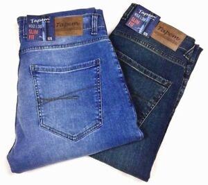 Mens Stretch Jeans Slim Fit High Quality Comfort wear Dark & Medium Stone Tapem