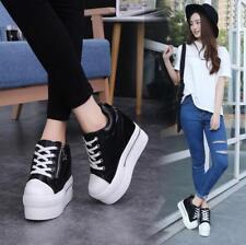 Womens High Top Zip Sneaker Hidden Heel Casual Sports Shoes Athletic Platform