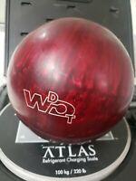 Vintage Columbia 300 Bowling Ball White Dot Red Swirl