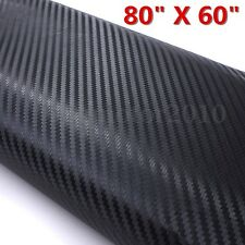 80''x60'' 3D Black Carbon Fiber Vinyl Textured Wrap Film Car Truck Decal Sticker
