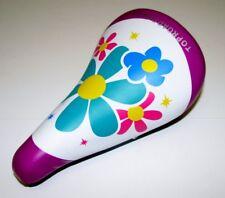 "NEW KIDS BIKE SEAT black purple white pink purple FOR 16"" OR 20"" BIKES CYCLING!"