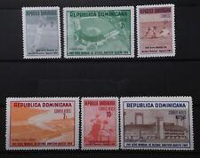 DOMINICAN REPUBLIC # 657-659 & C169-C171. AMATEUR BASEBALL CHAMPIONSHIPS. MNH