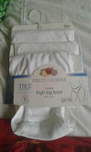 FRUIT OF THE LOOM TRUE COMFORT HIGH LEG BRIEF  SIZE UK 10 EUR 38