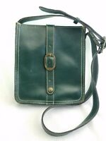 PATRICIA NASH Antique Green Venezia Leather Crossbody Purse Bag