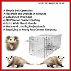 3 X POSSUM CAGE LIVE ANIMAL CATCHER TRAP BAIT FOLDING CAGE HUMANE FERAL CAT HARE