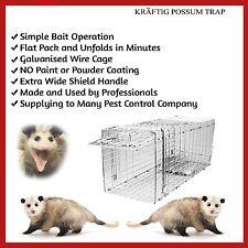 POSSUM CAGE LIVE ANIMAL CATCHER TRAP BAIT FOLDING CAGE HUMANE FERAL CAT RAT HARE