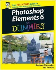 Photoshop Elements 6 for Dummies by Barbara Obermeier Paperback Book - NEW