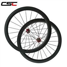Factory price 50mm tubular carbon road bicycle wheels for Shimano or campagno