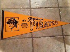 Pittsburgh Pirates Three Rivers Stadium Vintage 1970's Baseball Pennant Clemente