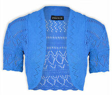 NEW KIDS BOLERO SHRUG KNITTED CROCHET CARDIGAN Top- Year 2-13