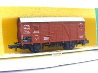 Minitrix N 3534 ged. Güterwagen Gr DRG OVP (RB8450)