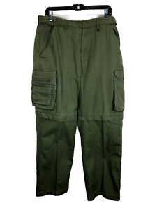 BSA Boy Scouts Convertible Uniform Switchback Pants Zip Off Relaxed Fit 36 x 30