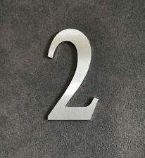 Zahl 2 Metall Edelstahl Zahlen Hausnummern Schilderbeschriftung Schriftzüge 6cm