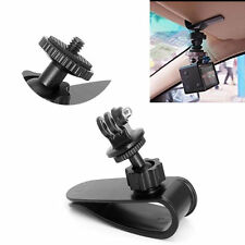 Car Sun Visor Clip Mount Holder Stand Bracket + Nut Adapter For Gopro Camera GPS