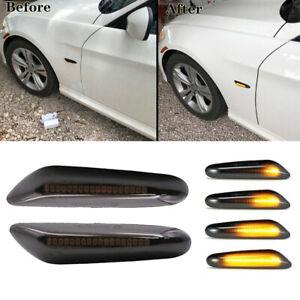 Dynamic LED Side Turn Signal Light Indicator For BMW E90 E91 E92 E60 E46 E88 E82