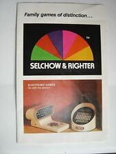 Selchow & Righter Brochure Game 1981 Electronic Scrabble Computer Photo Resource