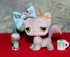 💙Littlest Pet Shop💙 LpsGray Angora Cat Kitty Green Eyes #20 Rare Vhtf